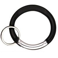 Carabiner Circle Shape BLACK with Split Ring