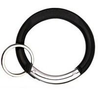 Carabiner Circle Shape BLACK with Split Ring