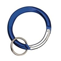 Carabiner Circle Shape BLUE with Split Ring