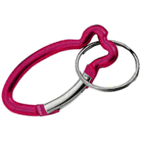 Carabiner Fish Shape RED with Split Ring