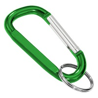 Carabiner Standard Shape GREEN with Split Ring