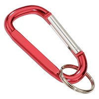 Carabiner Standard Shape RED with Split Ring