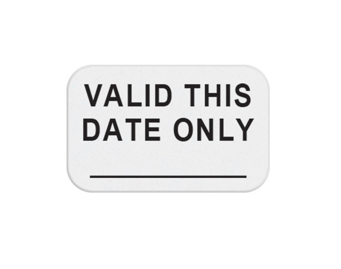 TEMPBadge, TIMEToken, One Day, Valid This Date Only