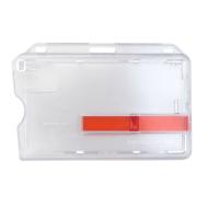 Horizontal Frosted Smart Badge Holder w/ RED Slide Ejector