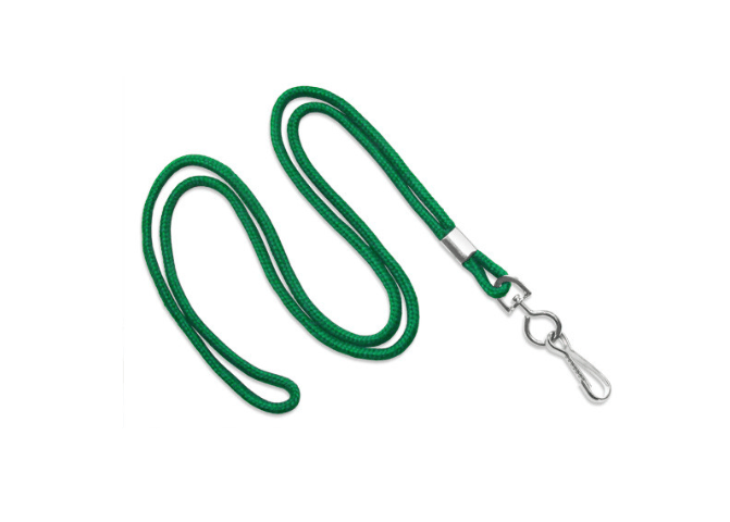 Non-Breakaway Lanyard with Round, Swivel Hook, 38 - Multi Colors - 50506