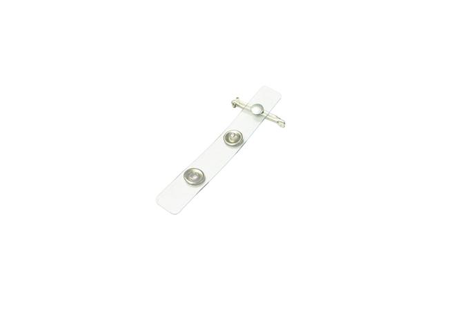 Clear Vinyl Nickel Plated Swivel Bar Strap Clip