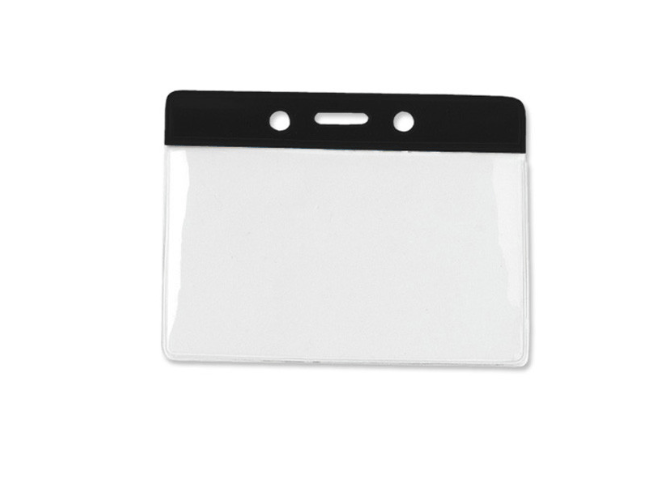 Horizontal Badge Holder with Color Bar