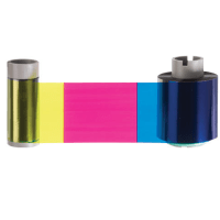 Fargo HDP5000 YMCKK Half Panel Full-Color Ribbon w/ 2 Resin Black Panels