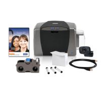 Bundle - Fargo DTC1250e SS ID Card Printer w Ribbon, Cards, Rollers