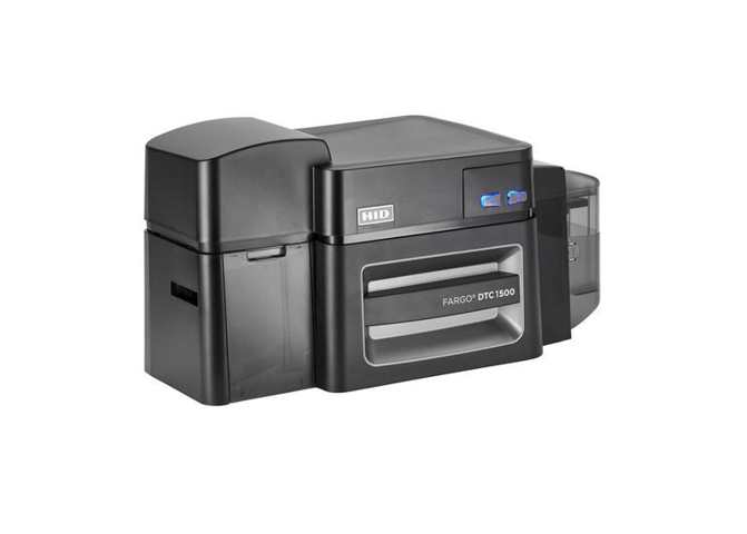 Fargo DTC1500 DS Printer w HID Prox and Contact Smart Card Encoder