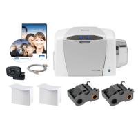 Bundle - Fargo C50 SS Printer w USB Cable and AsureID Express