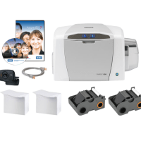 Bundle - Fargo C50 SS Printer w USB Cable and AsureID Express