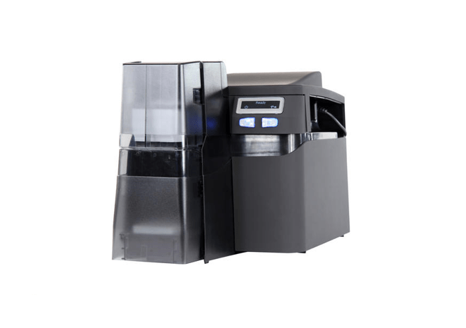 Fargo DTC4500e SS Printer Same Side In/Out w Encoders