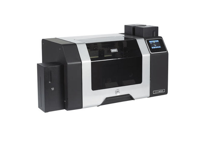 Fargo HDP8500 DS Printer w Flattener and Docking Station