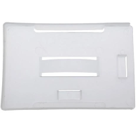 Dual Orientation Rigid Plastic Badge Holder in Milky White