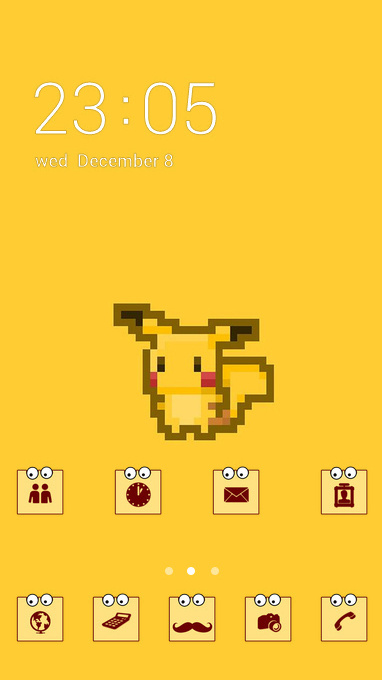 Download Gratis Themes Android Pixel Pikachu Theme