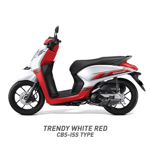 Honda Genio Trendy White Red CBS ISS