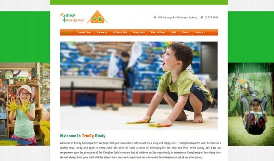 Trinity Kindy New Web site design