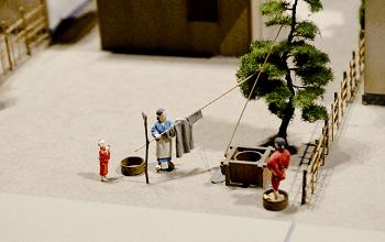 江戸時代の庶民生活のジオラマ