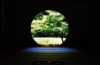丸窓からの風景