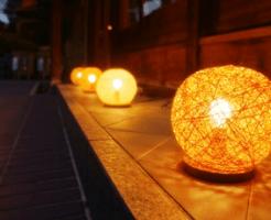 京都の町屋の灯り