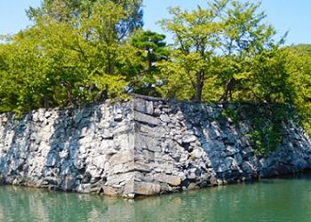 徳島城址の石垣