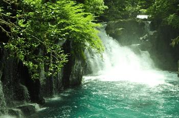 菊池渓谷の四十三万滝