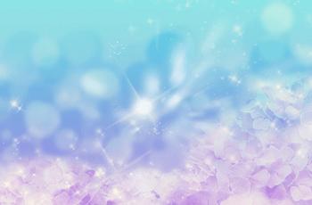 水の中の紫陽花の花