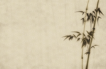 竹が描かれた和紙