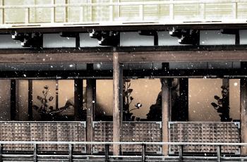 金閣寺に降る雪