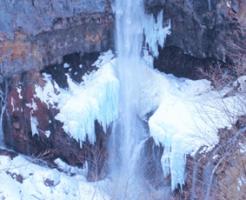 真冬の華厳の滝
