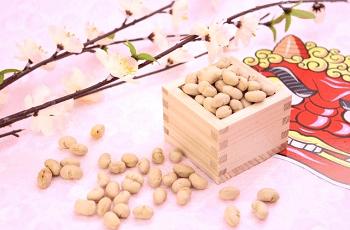 福豆と鬼のお面