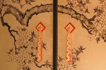桜が描かれた襖