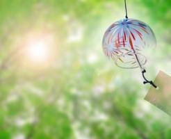 夏の日射しと風鈴