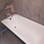 Установка ванны стальной