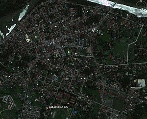 the google earth view of cbr city