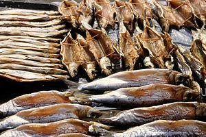 Omul fish, endemic to Lake Baikal (Russia). Sm...