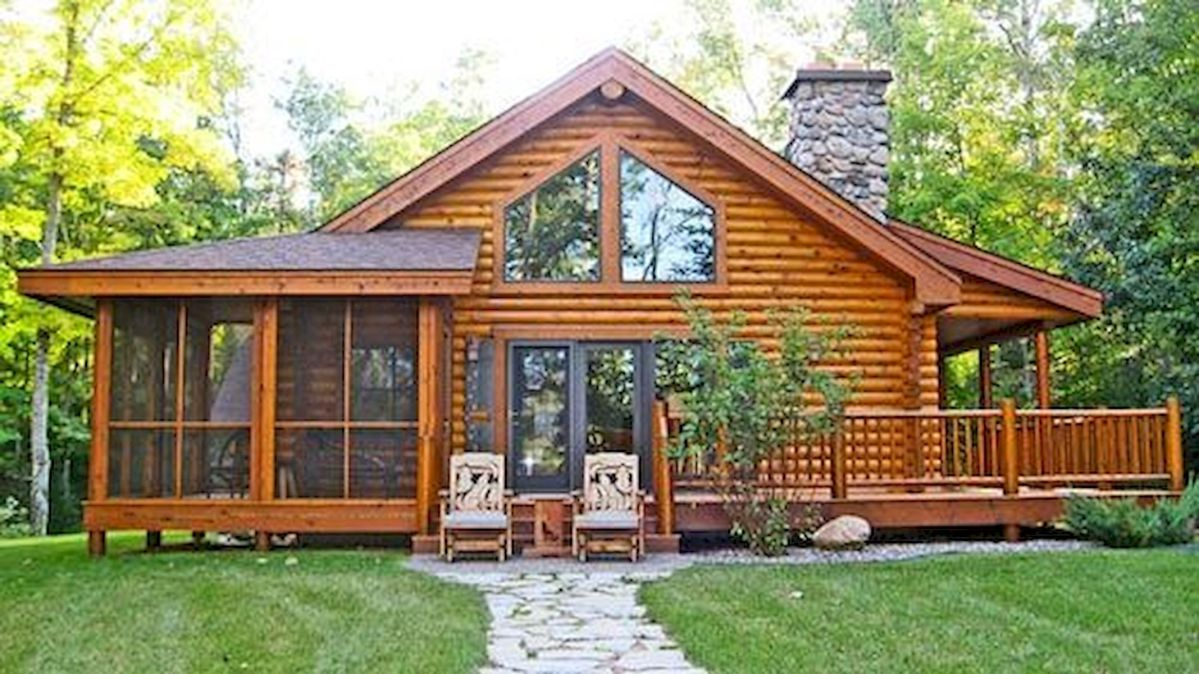 44 Best Log Cabin Homes Plans One Story (2)