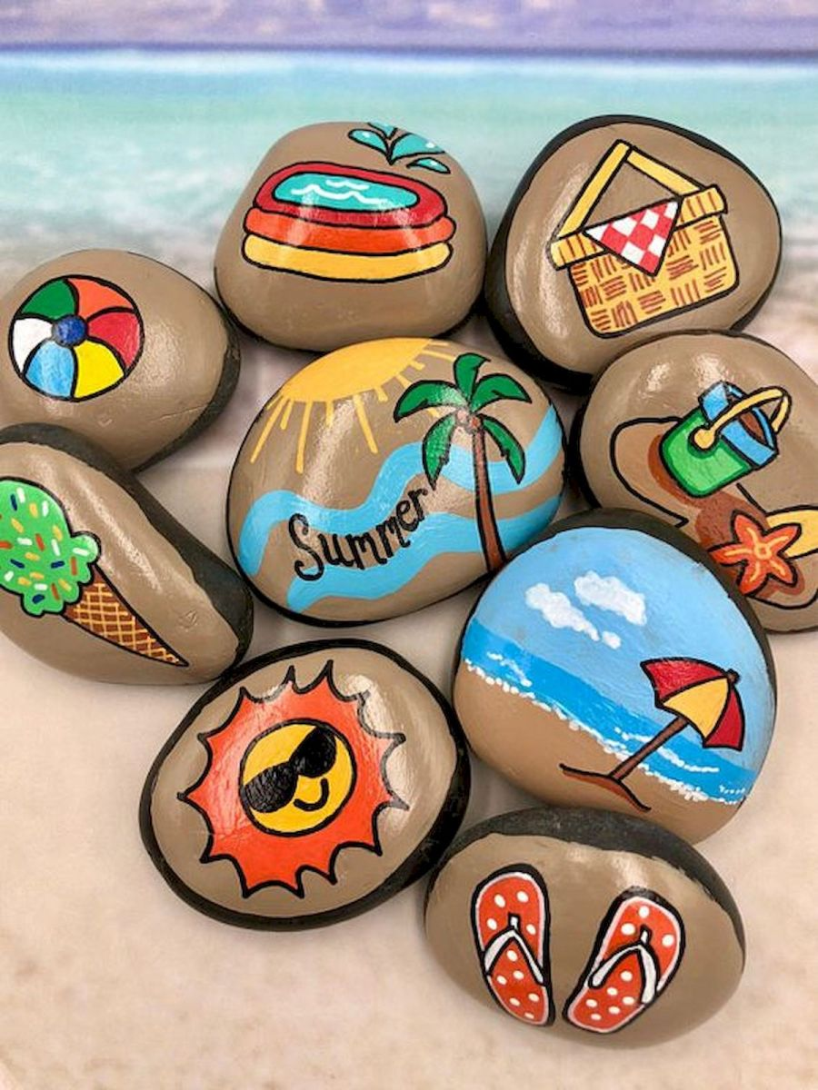 52 Best DIY Painted Rocks Remodel Ideas Perfect For Beginners (103)