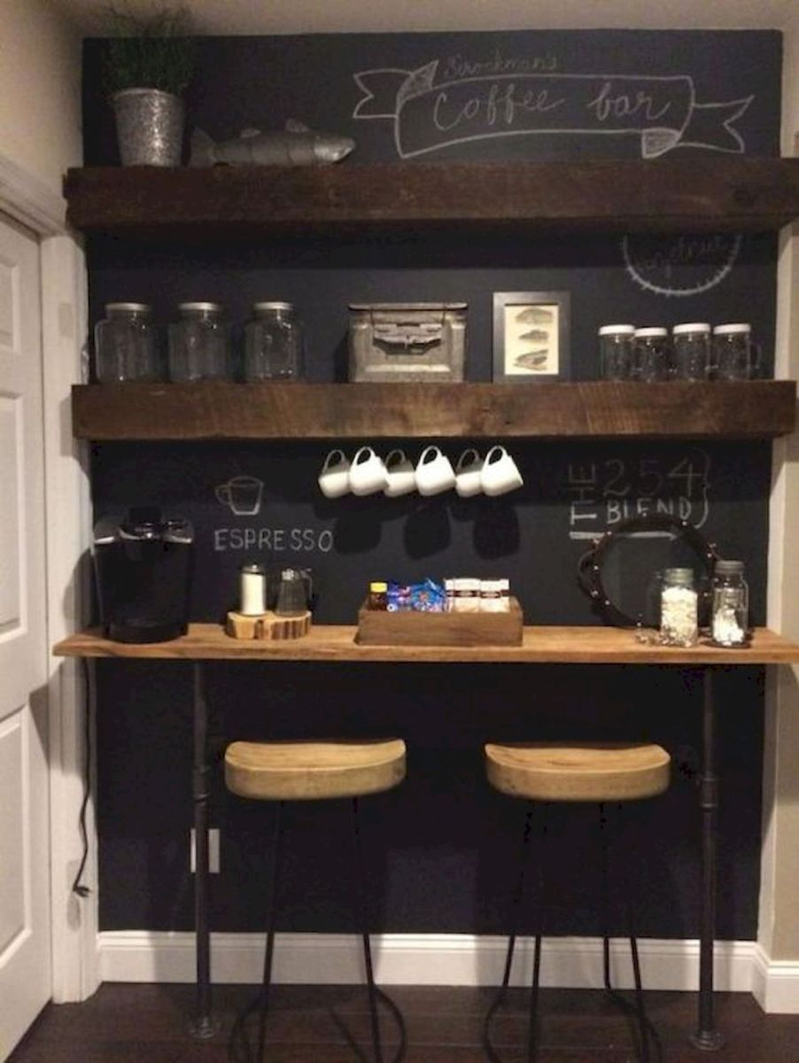 60 Best Mini Coffee Bar Ideas for Your Home (20)