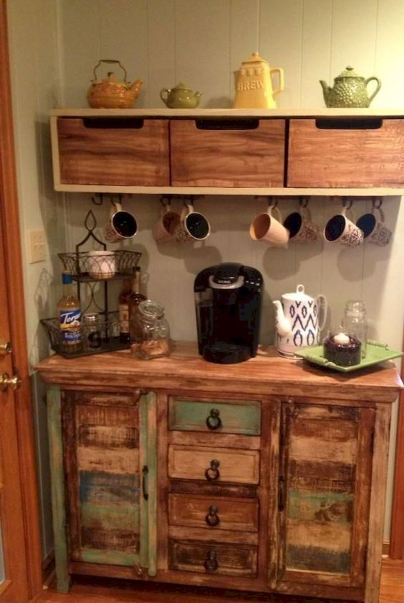 60 Best Mini Coffee Bar Ideas for Your Home (38)