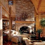63 Best Log Cabin Homes Fireplace (24)
