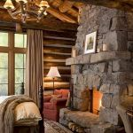 63 Best Log Cabin Homes Fireplace (32)