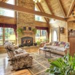 63 Best Log Cabin Homes Fireplace (46)