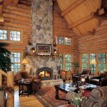 63 Best Log Cabin Homes Fireplace (5)