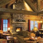 63 Best Log Cabin Homes Fireplace (50)