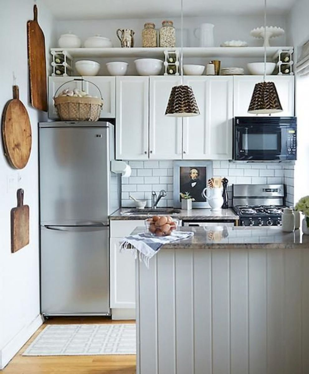90 Beautiful Small Kitchen Design Ideas (67)