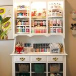 40 Stunning Craft Room Cabinets Decor Ideas and Design (30)