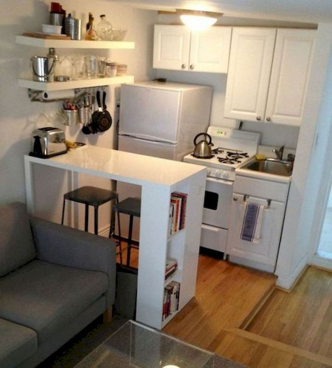 44 Best Studio Apartment Kitchen Decor Ideas (31) - Ideaboz
