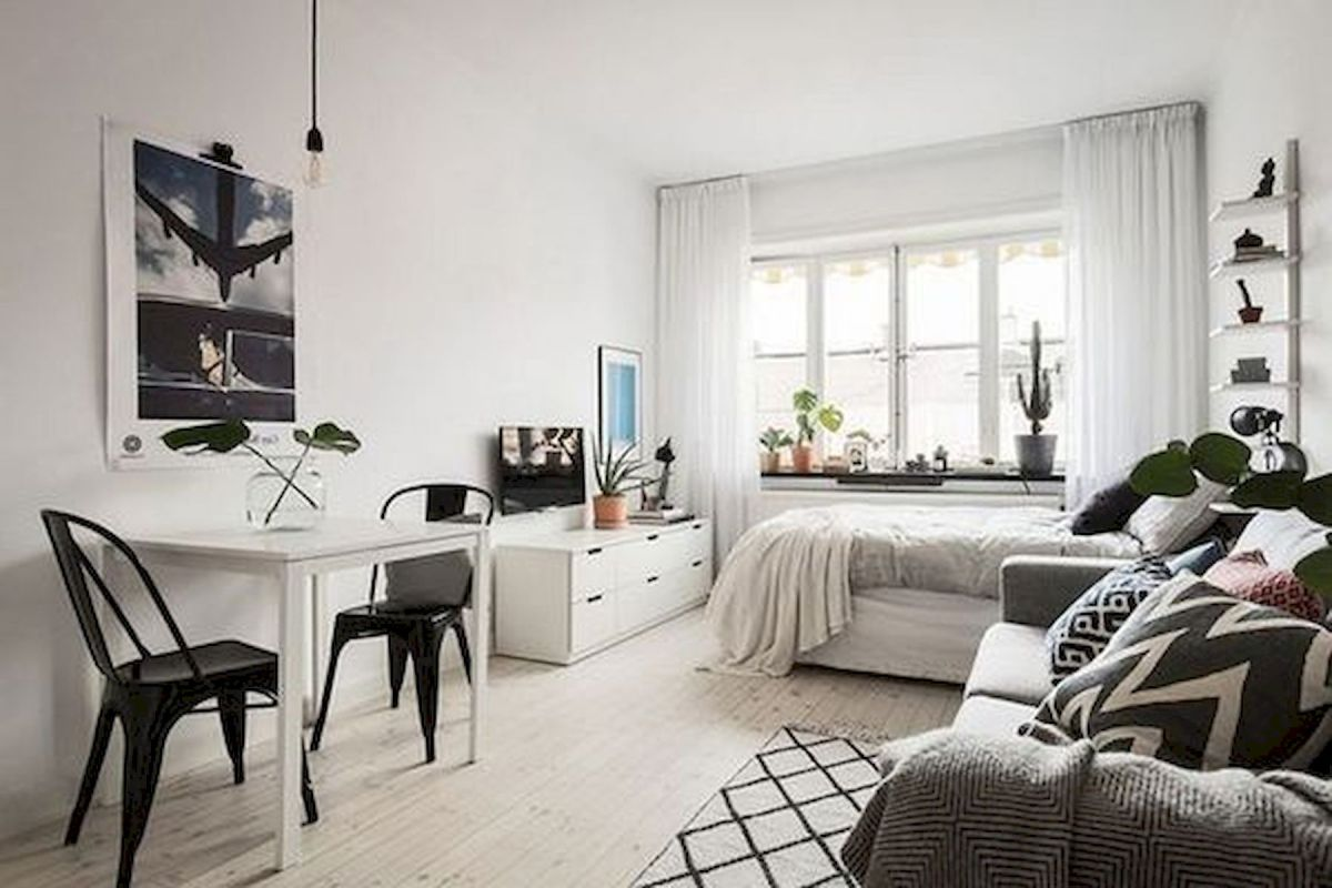 53 Best Minimalist Studio Apartment Small Spaces Decor Ideas (10)